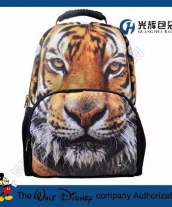 3D Animal Tiger Backpack College Student School Backpack