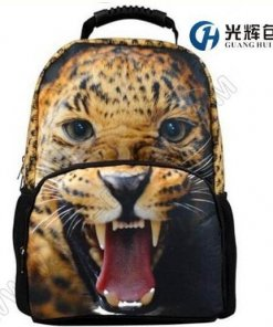 3D leopard print animal backpack college school rucksacks