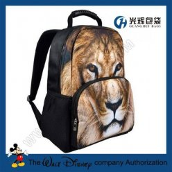3D lion print animal college rucksacks