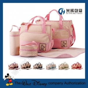 5pcs set microfiber cloth baby diaper mammy bags