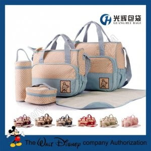 5pcs set microfiber cloth baby diaper nappy bag