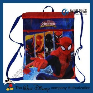 Cartoon drawstring backpacks for children
