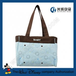 Dot and circle embroidery tote diaper bags