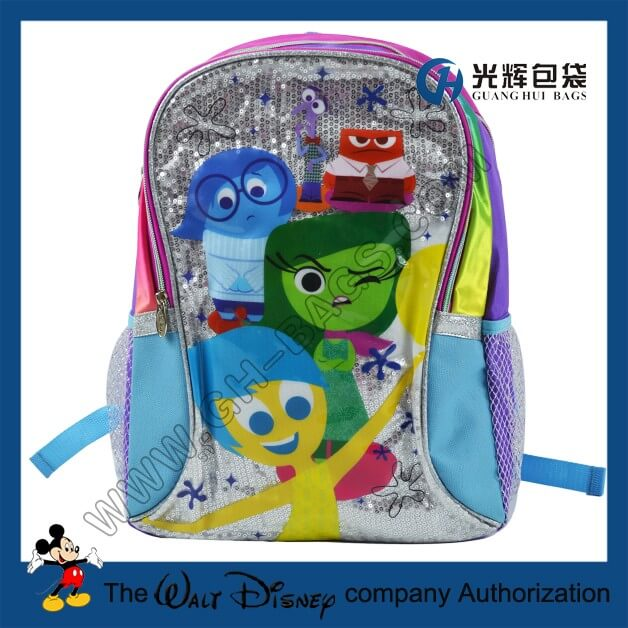 Inside Out Cartoon Character School Bags For Girls