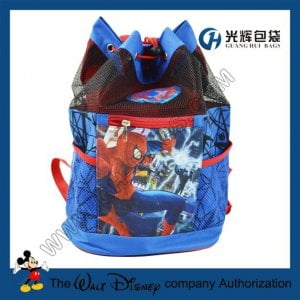 PVC mesh drawstring backpack bags