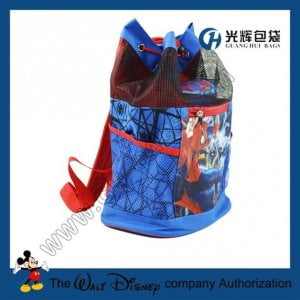PVC mesh drawstring backpack bags