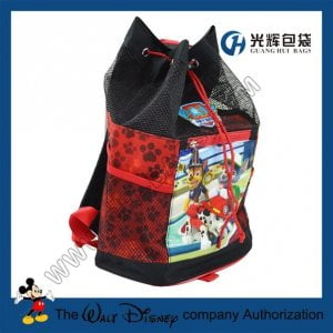 PVC mesh drawstring backpacks
