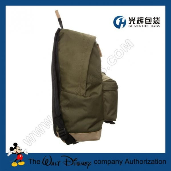 Plain compact backpacks with leather