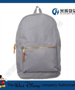 Plain metal zipper backpacks