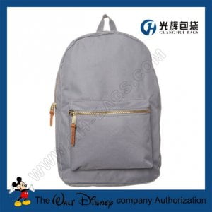 Plain metal zipper backpacks