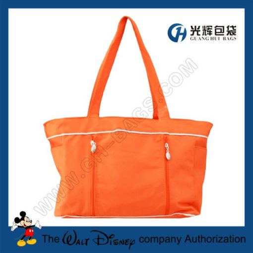 Polyester tote diaper bag with change mat