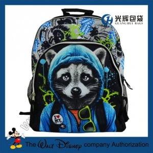Sliver zipper 3D animal print backpacks