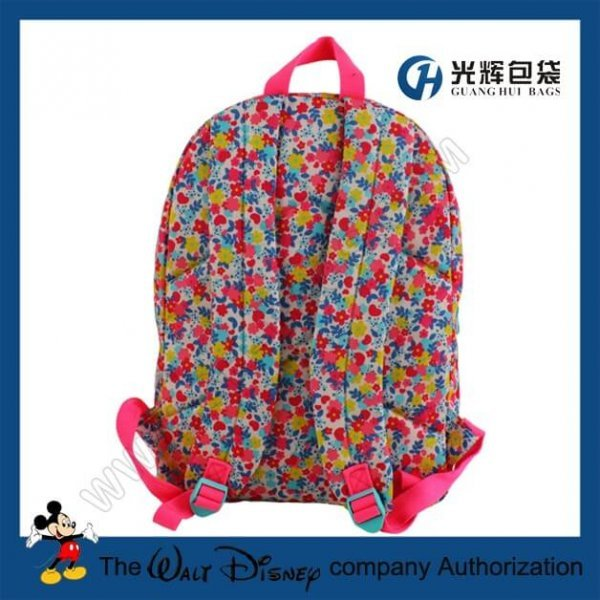 Fashion backpack bags with flower print