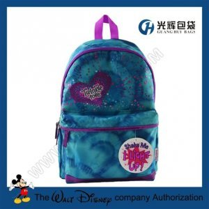 Gradient ramp full print led school backpack for kids