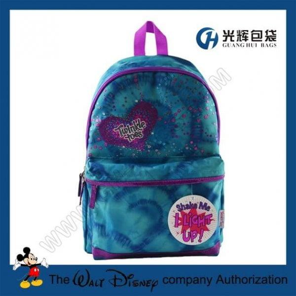 Gradient ramp full print led school backpack for kids