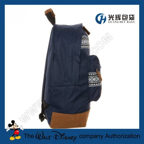 National customs compact backpacks with leather