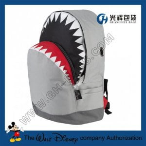 Polyester animal backpack Shark Backpacks