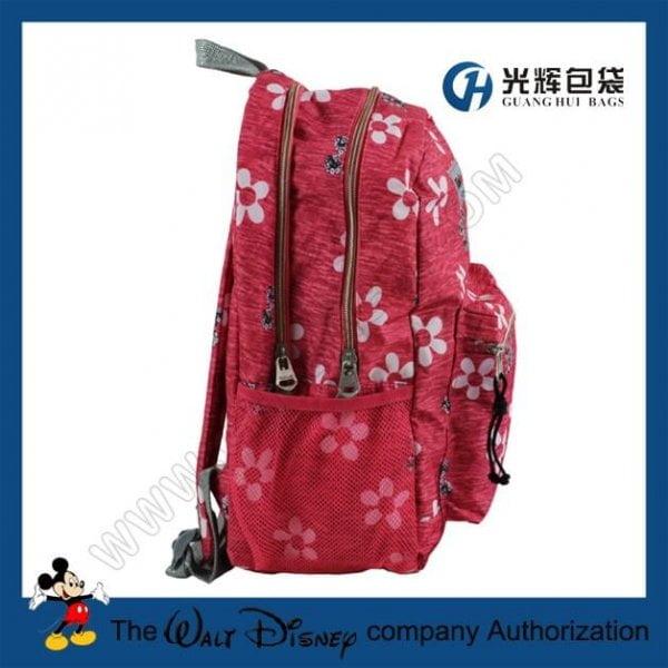 Sliver webbing backpacks with flower print