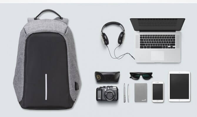 2017 New style anti theft backpack for laptop