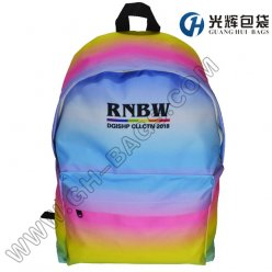 Customized rainbow backpack sublimation backpack bags