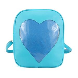 Blue Clear candy bag packs transparent windows backpacks