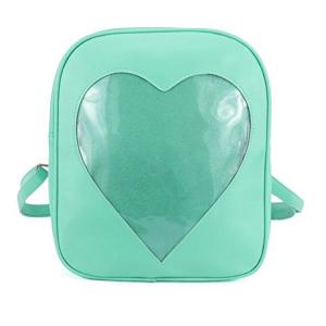 Green Clear candy bag packs transparent windows backpacks