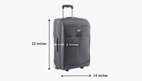Carry-on bag's Size